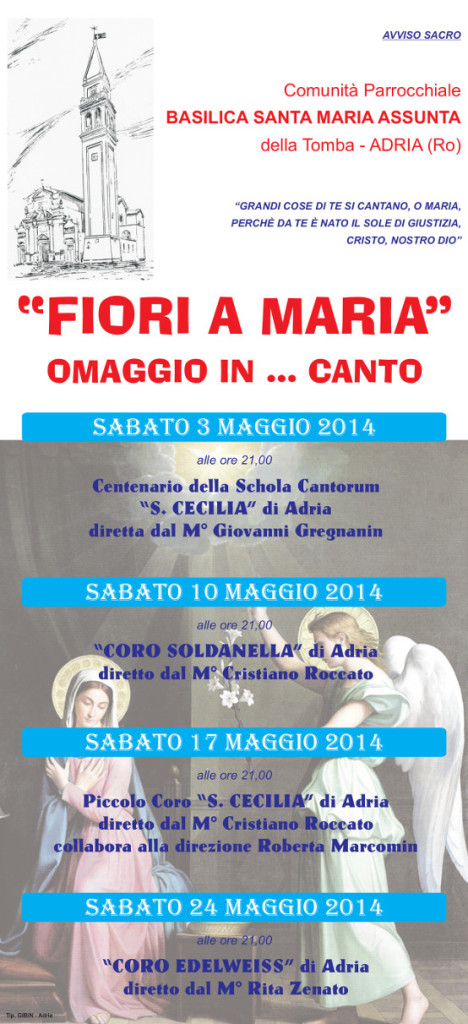 Concerti Maggio 2014 Basilica Adria